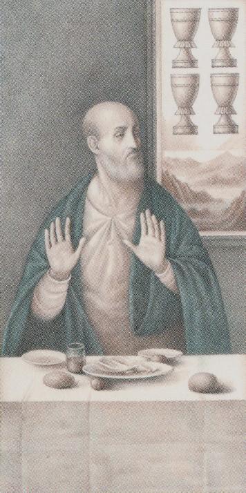 4 de Copas - (Leonardo) Da Vinci Tarot