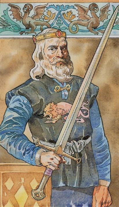 O Rei de Espadas é o símbolo do autocontrole
