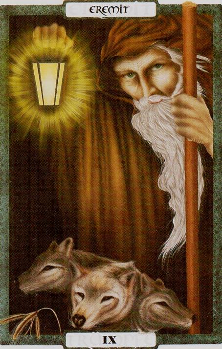 O Eremita é o símbolo da paciência - Traumzeit Tarot