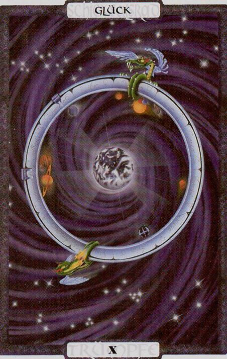 Roda da Fortuna é a carta dos altos e baixos - Traumzeit Tarot
